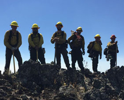 photo of wildland fire and operations